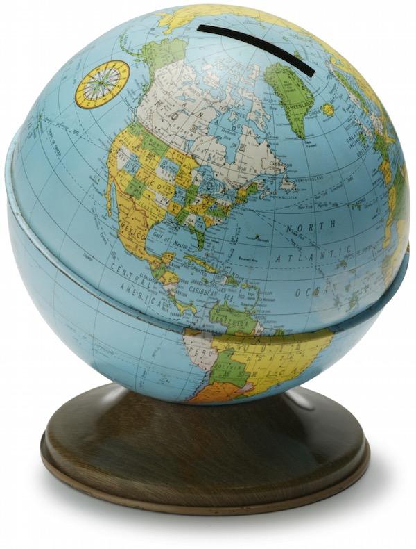 Globe-shaped Money Box