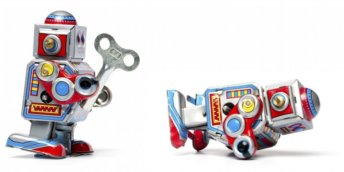 Roboter umgekippt
