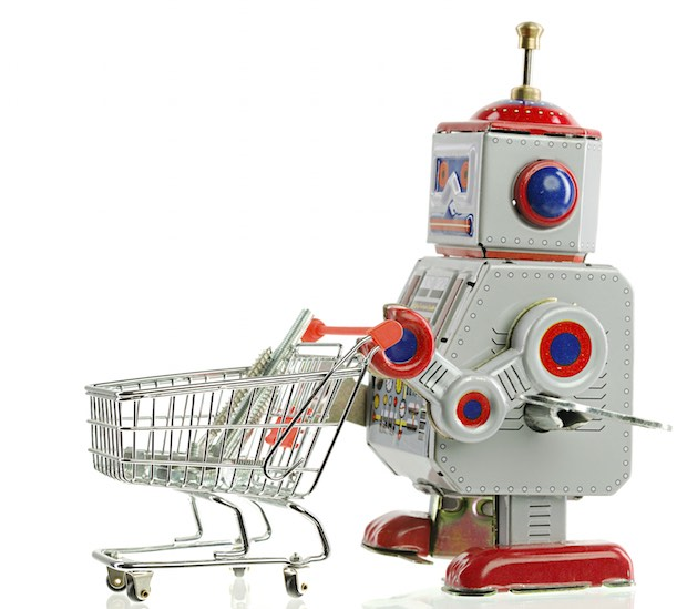 Robot pushing a Shopping Cart