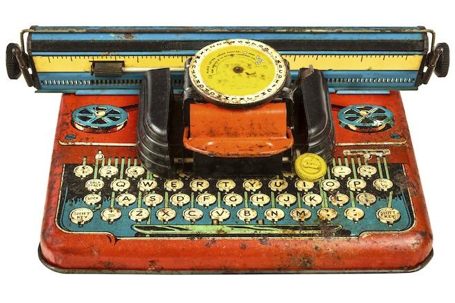 Spielzeug-Schreibmaschine